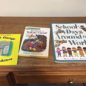 Children's books set of three, school Days Around